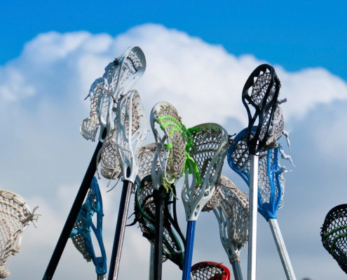 Image of Speed Lacrosse Stick in air